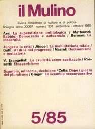Copertina del fascicolo dell'articolo E. Jünger: dall'