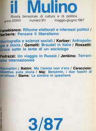 Copertina del fascicolo dell'articolo Walter Benjamin, ovvero i due fuochi di un'ellisse