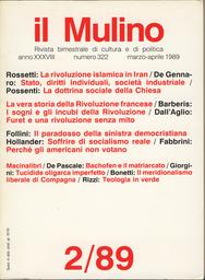 Copertina del fascicolo dell'articolo La rivoluzione islamica in Iran