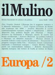 Copertina del fascicolo dell'articolo Fra il magnete tedesco e il diluente britannico