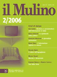 Copertina del fascicolo dell'articolo Teoria, prassi e ideologia del berlusconismo