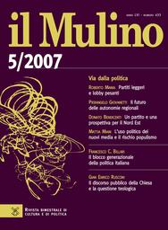Copertina del fascicolo dell'articolo Il blocco generazionale della politica italiana