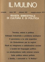 Copertina del fascicolo dell'articolo Tecnica, natura e politica