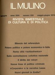 Copertina del fascicolo dell'articolo Federmeccanica e FLM sulla contrattazione collettiva nazionale