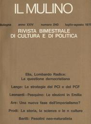 Copertina del fascicolo dell'articolo La storia, la scienza e le n culture
