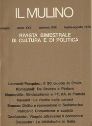 Copertina del fascicolo dell'articolo Il 20 giugno in Emilia-Romagna e a Bologna