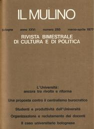Copertina del fascicolo dell'articolo Criteri e condizioni obbiettive per il reclutamento all'Università