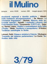 Copertina del fascicolo dell'articolo Note sulle minoranze linguistiche e nazionali in Italia