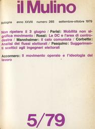 Copertina del fascicolo dell'articolo Il movimento operaio e l'ideologia del lavoro
